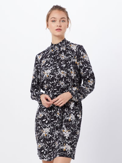 ONLY Sukienka 'ONLFALMA SMOCK DRESS SOLID WVN' w kolorze czarnym: Widok z przodu