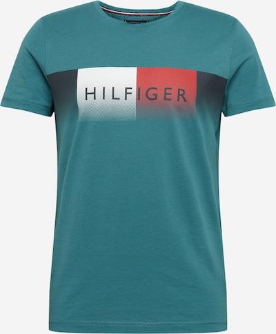 TOMMY HILFIGER Shirt 'TH COOL HILFIGER FADE TEE' in türkis, Produktansicht