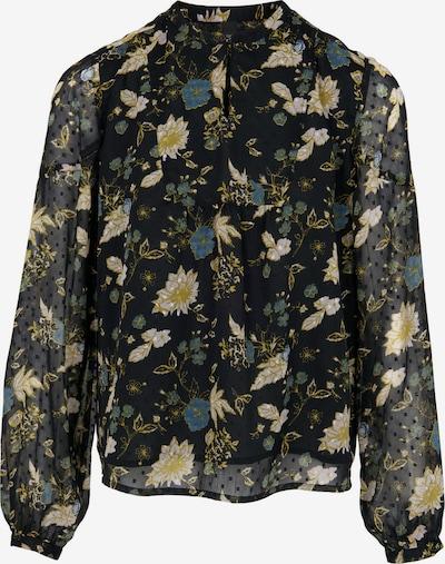 heine Bluse i blandingsfarvet / sort, Produktvisning