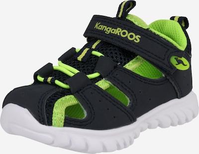 KangaROOS Sandale 'Rock lite' in blau / neongrün, Produktansicht