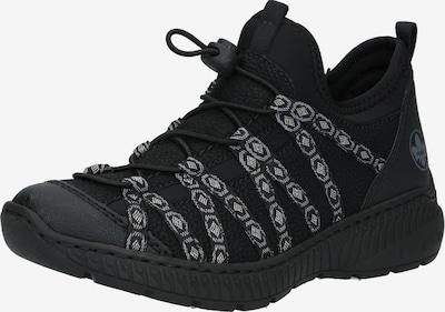 RIEKER Sneakers laag 'N62Z8' in de kleur Zwart / Wit: Vooraanzicht