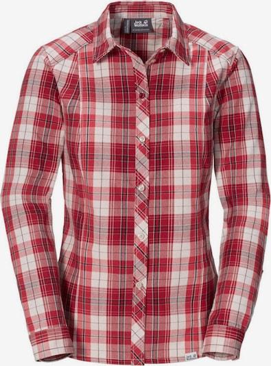 JACK WOLFSKIN Hemd 'South River' in rot / weiß, Produktansicht