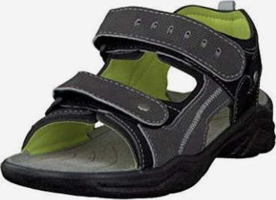 RICOSTA Sandalen in dunkelgrau / hellgrün / schwarz, Produktansicht