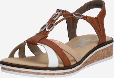 RIEKER Remienkové sandále - karamelová / kapučíno / biela, Produkt