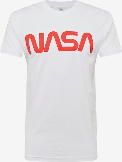 Mister Tee T-Shirt 'NASA Worm' in hellorange / weiß: Frontalansicht