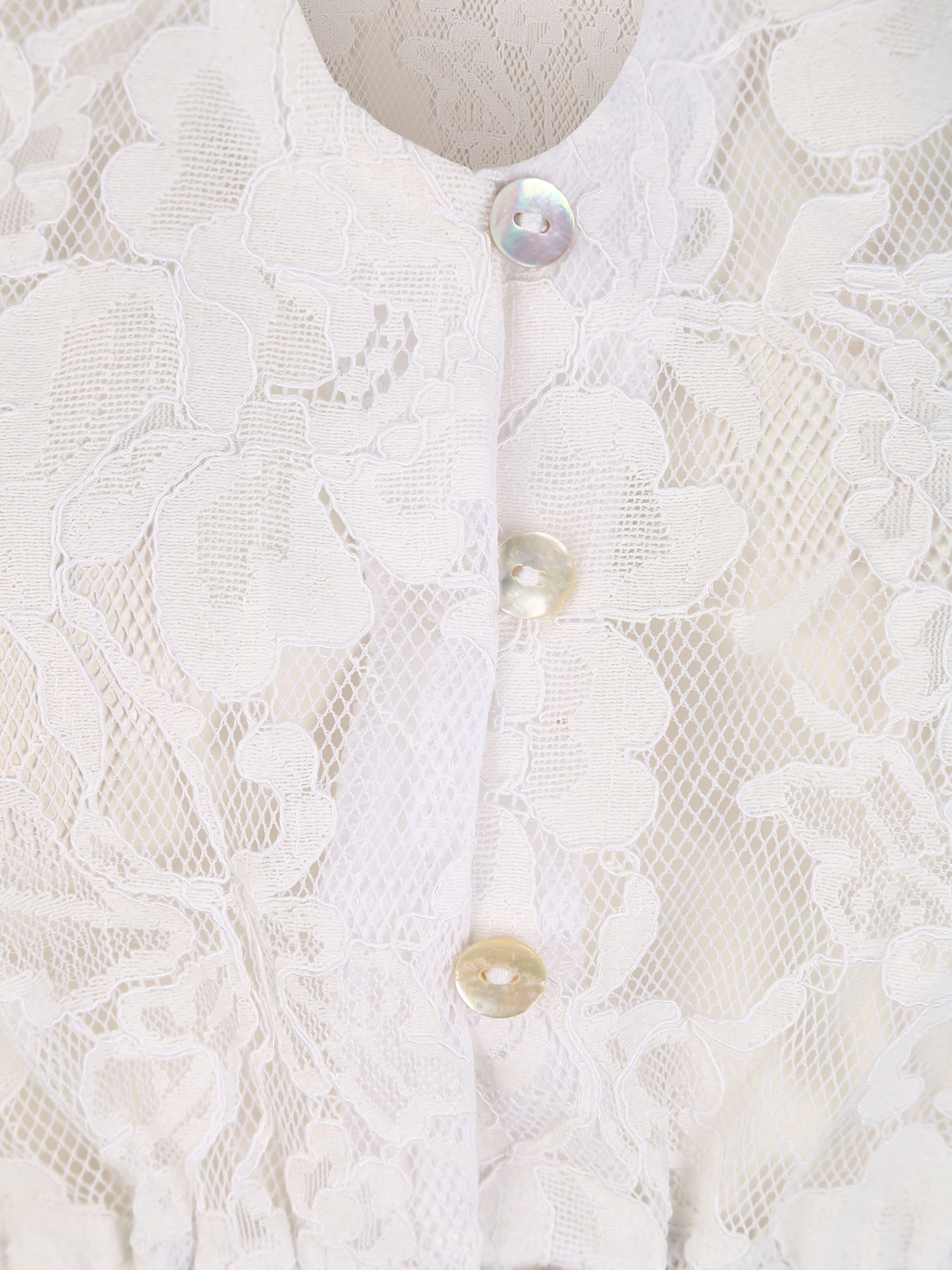 SPIETH & WENSKY Dirndlbluse 'Grimaldi' in weiß