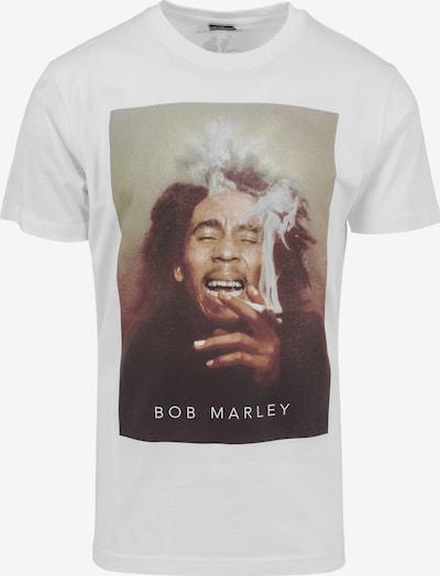 Mister Tee Shirt 'Bob Marley Smoke' in de kleur Gemengde kleuren / Wit, Productweergave