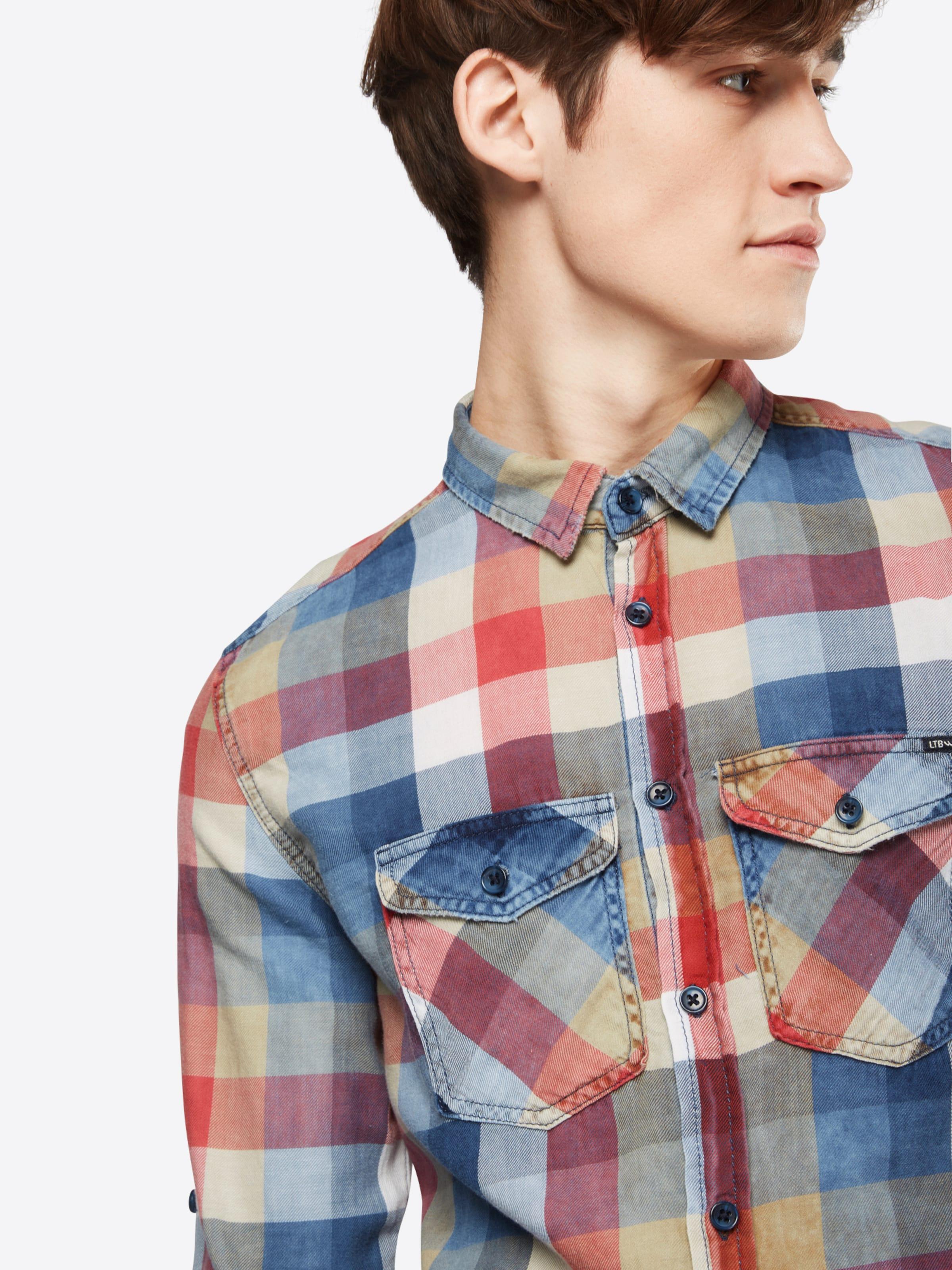 LTB Gemustertes Hemd 'RIAS' Auslass Ausgezeichnet Rabatt Billig Freies Verschiffen Online-Shopping Rabatt Niedriger Versand Rabatt Footlocker dVBsaBdMTE