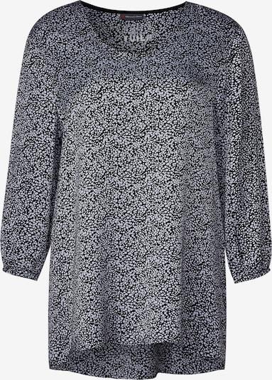 STREET ONE Bluse in taubenblau / schwarz, Produktansicht