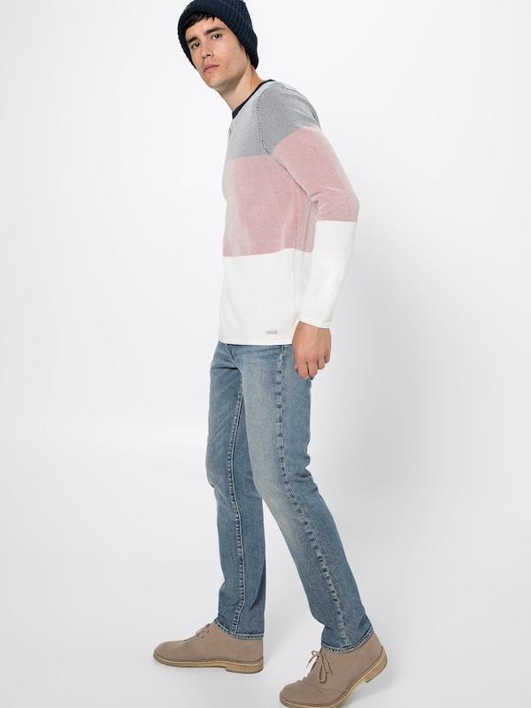 BleuRouge Cn' Esprit over Struc 'strip Blanc En Pull myv80ONwn