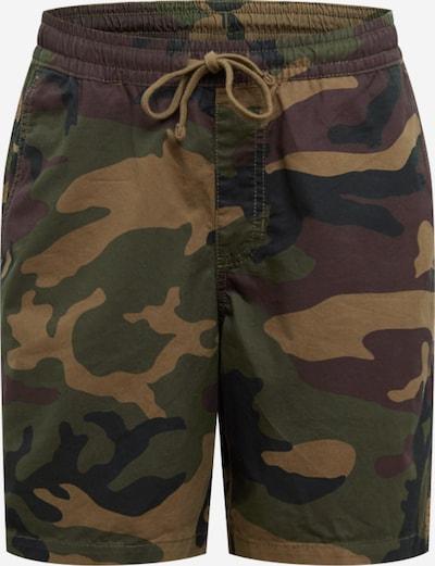 Pantaloni 'Range 18' VANS pe bej / verde închis, Vizualizare produs