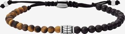 FOSSIL Armband in braun / schwarz / naturweiß, Produktansicht