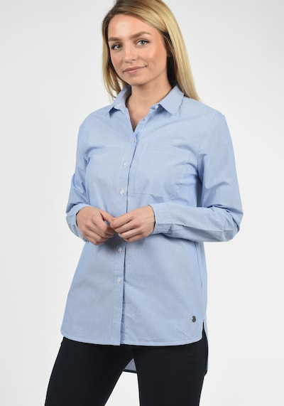 Desires Hemdbluse 'Drina' in blau / weiß: Frontalansicht