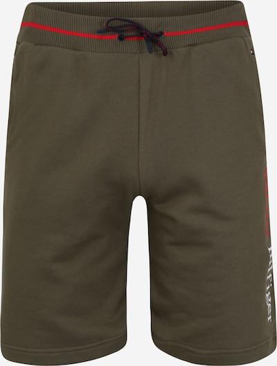 Tommy Hilfiger Underwear Shorts 'LWK' in dunkelgrün / rot / weiß, Produktansicht
