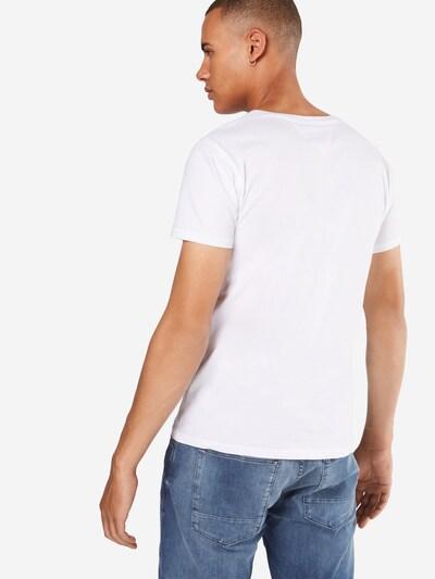 Tommy Jeans T-Shirt 'TJM ORIGINAL JERSEY V NECK TEE' in weiß: Rückansicht