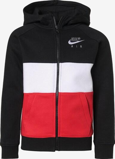 Nike Sportswear Kapuzensweatjacke 'Air FZ' in rot / schwarz / weiß, Produktansicht