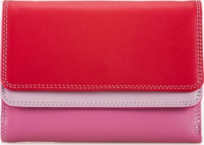 mywalit Geldbörse 'Double Flap' in hellgrau / pink / neonpink / hellpink / rot, Produktansicht