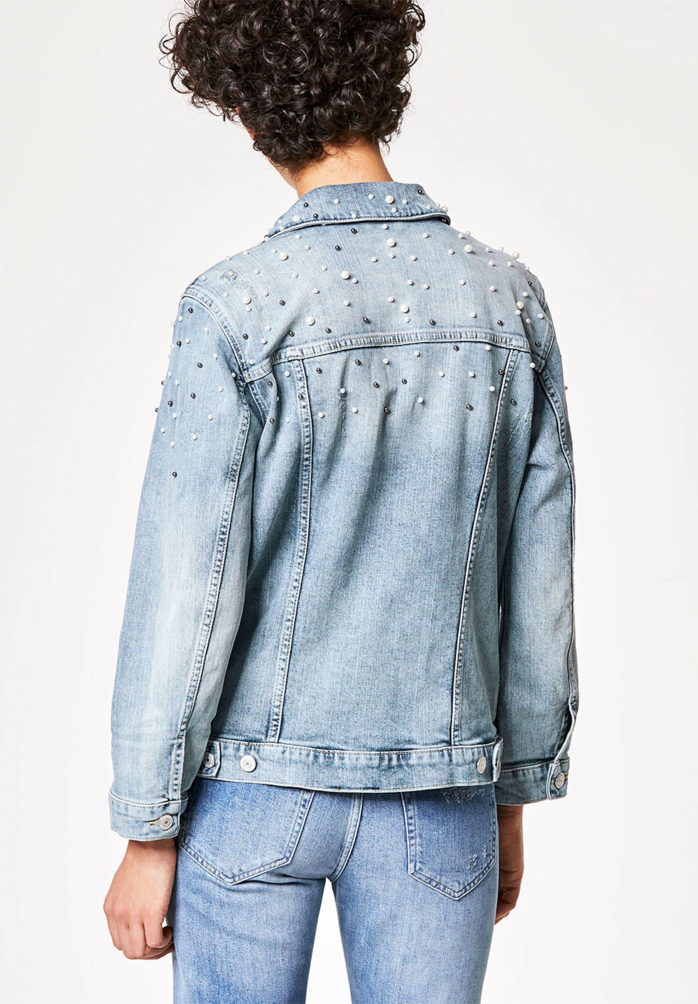 Spitzenreiter Rabatt Manchester HALLHUBER Jeansjacke mit Perlenverzierungen  Verkaufsschlager eEIcqnJLvg