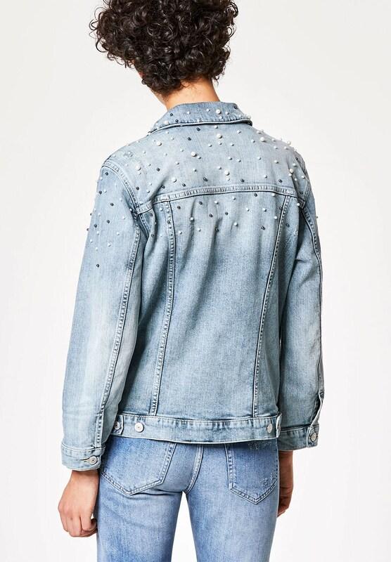 HALLHUBER Jeansjacke mit Perlenverzierungen