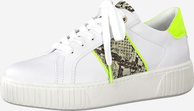MARCO TOZZI Sneaker in neongelb / weiß, Produktansicht