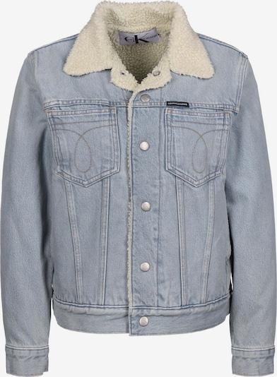 Calvin Klein Jeans Jeansjacke 'Omega Sherpa Trucker W' in blau, Produktansicht