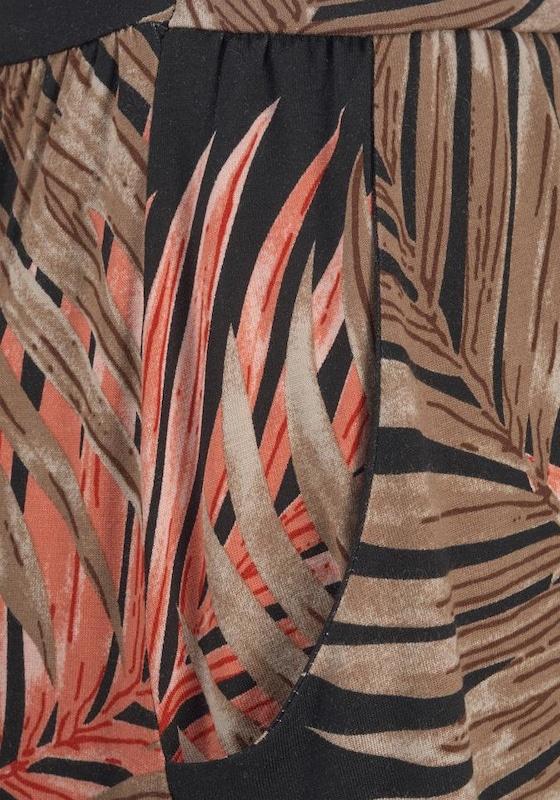 LASCANA LASCANA LASCANA Maxikleid in braun   feuerrot   schwarz  Freizeit, schlank, schlank f18edc