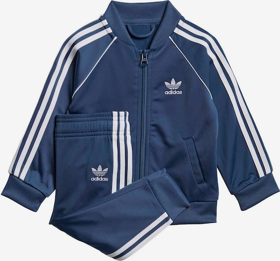 ADIDAS ORIGINALS Trainingsanzug 'SUPERSTAR SUIT' in blau / marine / weiß, Produktansicht