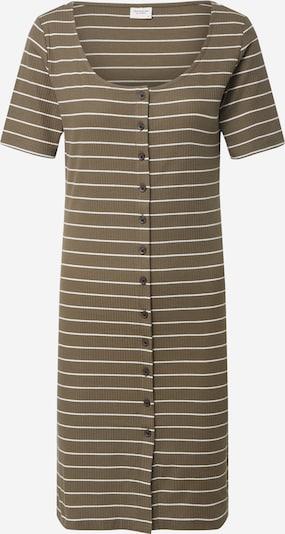 JACQUELINE de YONG Vasaras kleita 'NEVADA LIFE 0520' pieejami olīvzaļš / balts, Preces skats