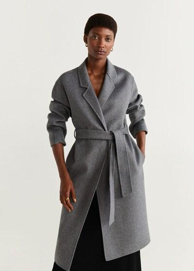 MANGO Manteau mi-saison 'Batin 5' en gris chiné, Vue avec modèle