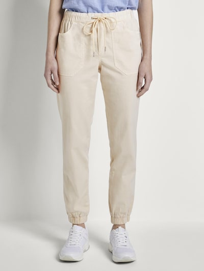 TOM TAILOR DENIM Hose in beige, Modelansicht