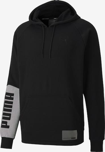 PUMA Sportsweatshirt 'Train Graphic' in de kleur Grijs / Zwart, Productweergave