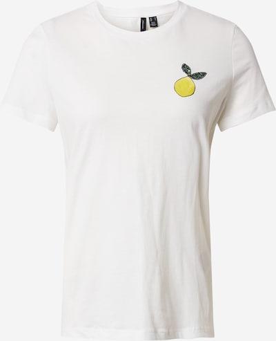 VERO MODA Shirt 'VMSAFINAFRANCIS' in de kleur Geel / Wit, Productweergave