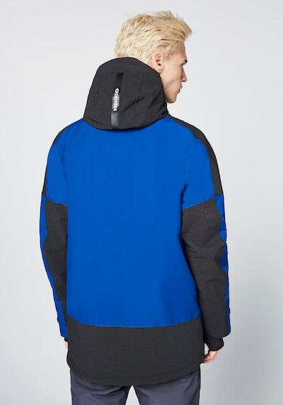CHIEMSEE Sportjacke in blau / schwarz: Rückansicht
