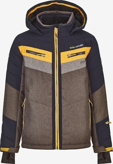 KILLTEC Skihybridjacke POLK in braun / gelb / grau / schwarz, Produktansicht