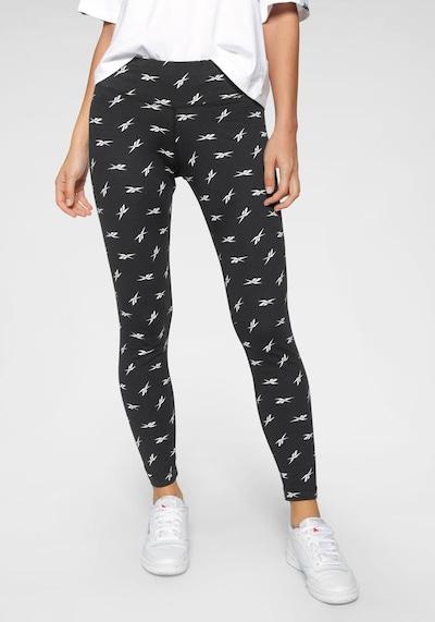 Reebok Sport Športové nohavice 'Vector' - čierna / biela, Model/-ka
