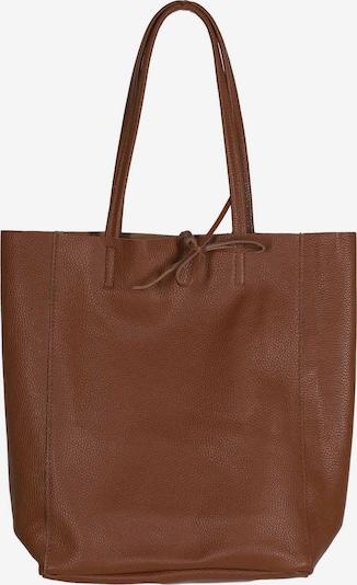 Zwillingsherz Handtasche in cognac, Produktansicht