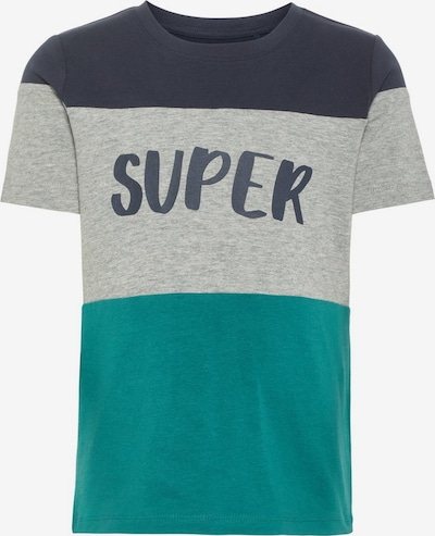 NAME IT Shirt in grau / petrol / schwarz, Produktansicht