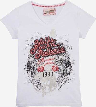 Andreas Gabalier Kollektion Trachtenshirt in weiß, Produktansicht