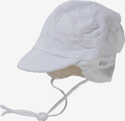 STERNTALER Kopftuch zum Binden mit Schirm in weiß, Produktansicht