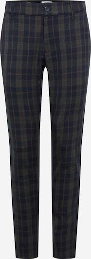 Only & Sons Pantalon chino 'ONSMark' en bleu nuit / marron / gris foncé, Vue avec produit