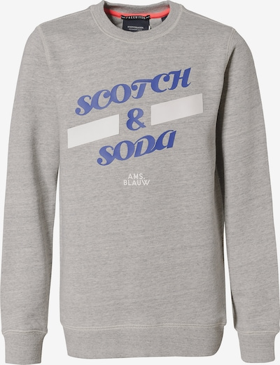 Scotch Shrunk Sweatshirt in royalblau / grau / weiß, Produktansicht