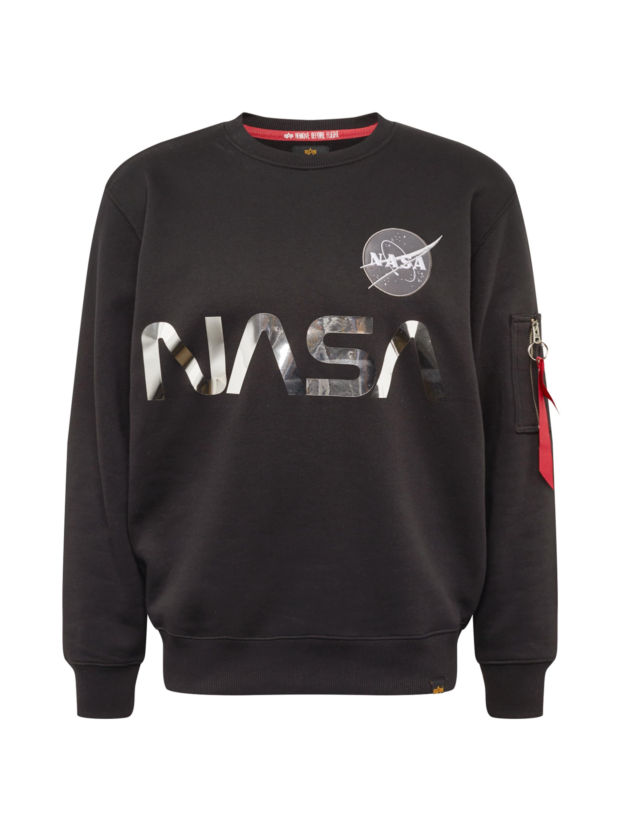 Sweatshirt 'nasa Reflective' Alpha In Industries GrauSchwarz n8vNwm0O