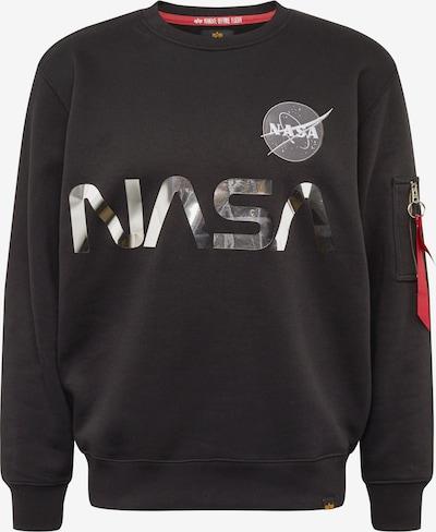 Megztinis be užsegimo 'NASA Reflective' iš ALPHA INDUSTRIES , spalva - pilka / juoda, Prekių apžvalga