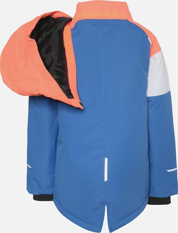 NAME IT Schneejacke 'Nkmsnow03' in royalblau orange weiß