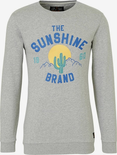 Shiwi Bluzka sportowa 'The sunshine brand' w kolorze jasnoszarym: Widok z przodu