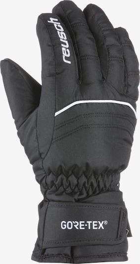 REUSCH Fingerhandschuhe in schwarz / weiß, Produktansicht