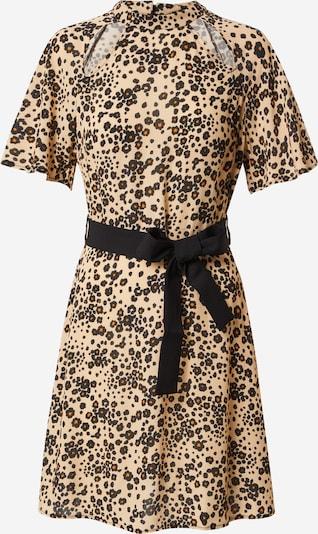 Trendyol Kleid in beige / dunkelrot / schwarz: Frontalansicht