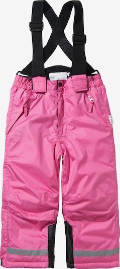 PLAYSHOES Kinder Schneehose in pink / schwarz: Frontalansicht