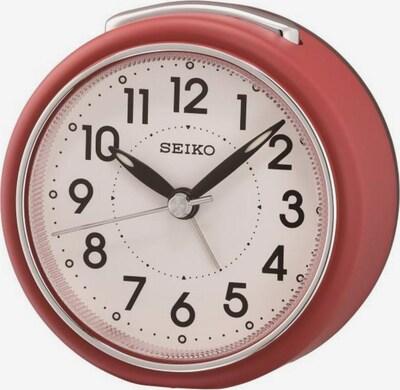 SEIKO Quarzwecker 'QHE125R' in beige / pastellrot, Produktansicht