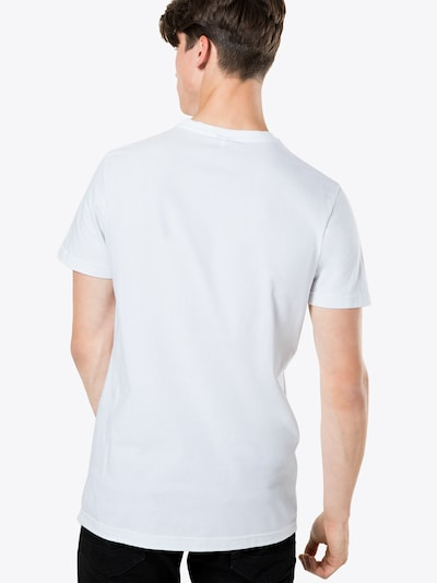Tricou 'Chestflag' Iriedaily pe negru / alb: Privire spate